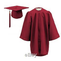 10 x Children's Graduation Gown & Hat SET for 3-6 year olds- MATT Finish