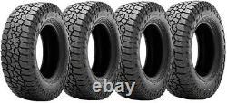 18 Black Fuel Rebel Wheels Rims Matte Tundra Sequioa 275 65 18 Falken Tires Set
