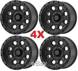 18 Matte Black Wheels Rims Tires 33 12.50 33x12.50r18 Mud Mt Method Atx Fuel