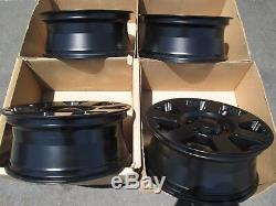 18 hummer h3 factory wheels with new black powder coated finish set 4 h 3 alloy