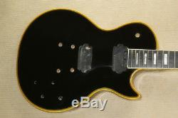 1 set black finished Guitar Neck and body for LP style guitar kit