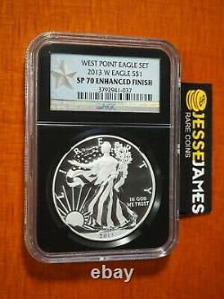2013 W Silver Eagle Ngc Sp70 Enhanced Finish From West Point Set Black Core