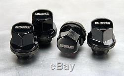2014 Mitsubishi Lancer Black Finish Ralliart Logo Wheel Lock Set Oem Mz314761