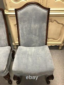 2 Drexel Heritage Belle Maison Upholstered Parlor Side Dining Chairs Set 311-751