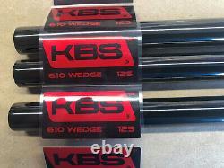 3-pc Set BLACK PVD FINISH KBS Tour 610 Wedge Shaft. 355 Tip