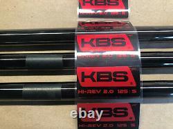 3 pc set BLACK PVD FINISH KBS Tour Hi Rev 2.0 Wedge Shaft. 355