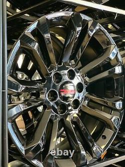 4 22 inch OEM Finish BLACK CHEVROLET GMC HIGH COUNTRY 6X139MM 2021 AND OLDER GM