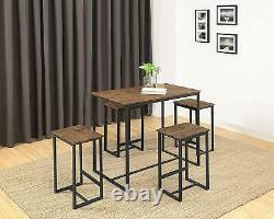 Abington Lane Kitchen Table Set Versatile, Tall, Modern Table Set For Any Room