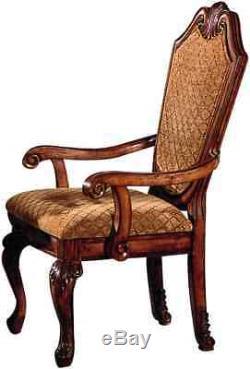 Acme Chateau De Ville Set of 2 Arm Chair in Cherry Finish 04078