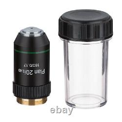 AmScope PAX-B Plan Objective Lens Set 10X 20X 40X 100X with Black Finish