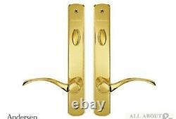 Andersen Double Door Trim Set Active/Passive Newbury HP Brass Finish #2577544