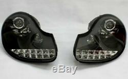 BLACK clear finish LED HEADLIGHT SET for PORSCHE BOXSTER 986 96-02 TFL LOOK