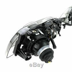 BLACK clear finish projector HEADLIGHTS SET FOR VW GOLF 3 III 91-97