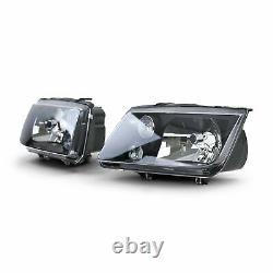 BLACK finish H4 H3 headlight SET with fog light FOR VW Bora 98-05