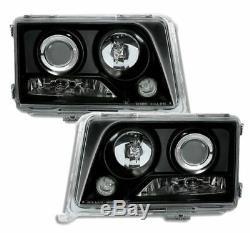 BLACK finish headlight set for MERCEDES W124 E-CLASS C124 T124 124 T 93-95
