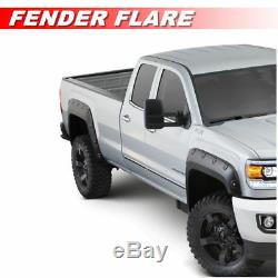 Black Textured Fender Flares Pocket Style For 1988-1998 Chevy / GM C/K