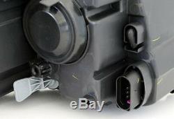 Black chrome finish headlight front light set for VW CADDY 3 2K from 2010