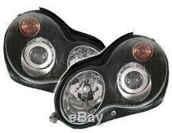 Black clear finish projector headlights SET for Mercedes W203 S203 C-CLASS 00-07