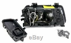 Black finish H7 projector lens headlight set for Audi A4 B5 94-99 RHD LHD cars