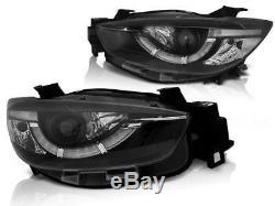 Black finish Xenon Headlights Set with LED TFL DRL FOR Mazda CX 5 11-15