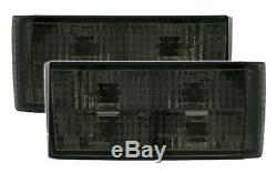 Black smoked finish TAIL LIGHTS taillights set for VW GOLF 1 17 + Cabrio 155