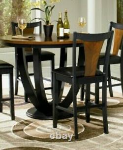 Boyer 5 Piece Counter Height Dining Set in Black and Amber Finish by Coaster
