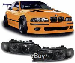 Clear finish black color projector xenon headlights SET for BMW E39 95-00