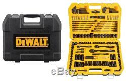 DEWALT 181 Piece Mechanics Tool Set Black chrome finish (ASME Specs) Heavy Dut