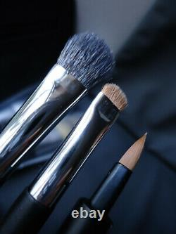 DIOR Full Size Professional Finish Backstage Brush Set Lux Faux Patent Case New
