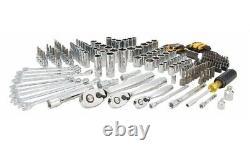 Dewalt Mechanics Tool Set 200-Piece Polished Chrome Finish 1/4 3/8 1/2 Drive