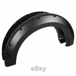 Fit 2004-2008 Ford F150 Textured Pocket Riveted Fender Flares Cover Paintable