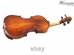 German Style finish Solid Wood/Ebony Fitting 15 Viola+Bow+Rosin+Case+String Set