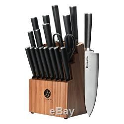 Ginsu Gourmet Chikara Series Forged 19-Piece Jap Steel Knife Set Bamboo Finish