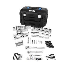 Hart HHMTS404 215pc Mechanics Tool Set Chrome Finish Rust Resistant with Hard Case