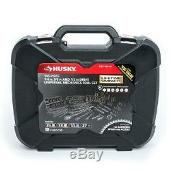 Husky Hand Tool Set 100-Position Universal SAE Metric Black Finish (105-Piece)