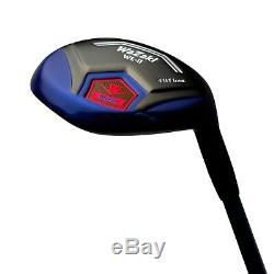 Japan WaZaki Black Oil Finish WL-IIs 4-SW Mx Steel Hybrid Irons Golf Club Set-65