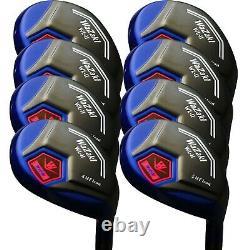 Japan Wazaki Black Oil Finish 456789PS Hybrid Irons Golf Club Set&Headcover