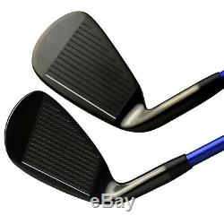Japan Wazaki Black Oil Finish Mx Steel 4567 Hybrid 89PS Iron Combo Golf Club Set