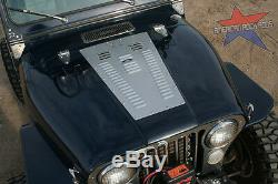 Jeep CJ Hood Louver panel set by American Rock Rods (Black finish) CJ5 CJ7 CJ8
