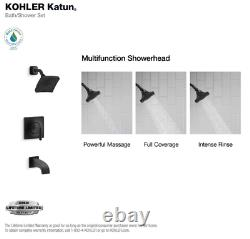 KOHLER KATUN (R78040-4E-BL) Bath/Shower Set Matte Black Finish, Valve Included