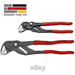 Knipex Adjustable Pliers Wrench Set 7 & 10 Black Finish 8601250 8601180