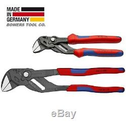 Knipex Adjustable Pliers Wrench Set 7 & 10 Comfort Grip Handles Black Finish