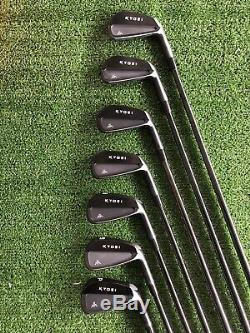 Kyoei KK CB Forged Iron Set 4-PW With KBS $ Taper 120 Black PVD Finish Brand New