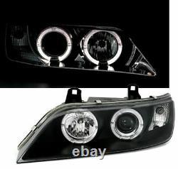 LED Angel Eyes headlight set in black color Finish for BMW Z3 95-02