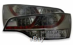 LED taillights rear light set black smoked finish for Audi Q7 model 2005-2009