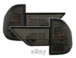 LED taillights rear lights set in black SMOKED finish for BMW X3 E83 04-06