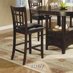 Lavon Espresso Finish Counter Height Dining Chair By Coaster 102889 Set of 2