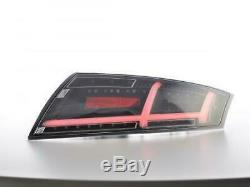 Lightbar LED dynamic Tail rear lights Set Audi TT 8J 06-14 in black clear finish