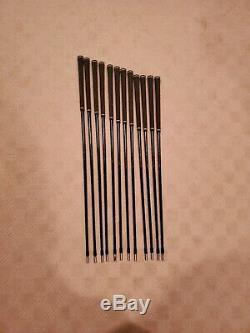 MINT Project X LZ 5.5 Blackout Steel Iron Shaft Set of 12 Black Onyx Finish. 355
