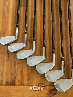 MINT! Srixon Z 785 RH 4-PW Iron Set KBS $-Taper 125 S+ BLACK ONYX FINISH